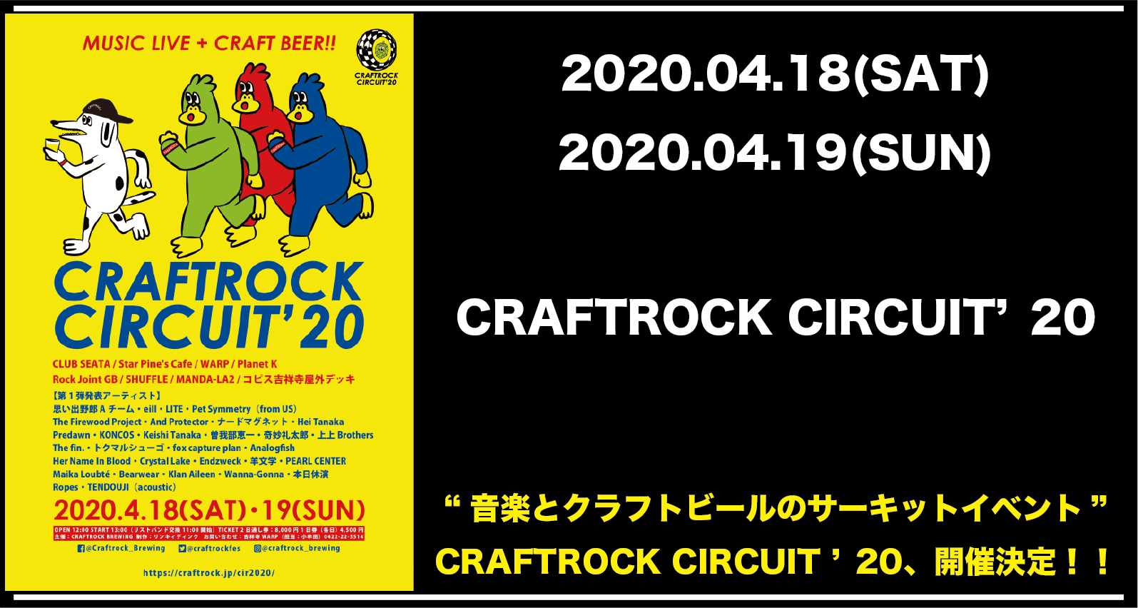 CRAFTROCK CIRCUIT '20